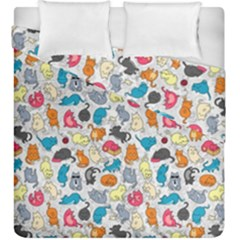 Funny Cute Colorful Cats Pattern Duvet Cover Double Side (king Size)