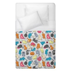 Funny Cute Colorful Cats Pattern Duvet Cover (single Size)