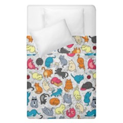 Funny Cute Colorful Cats Pattern Duvet Cover Double Side (single Size)