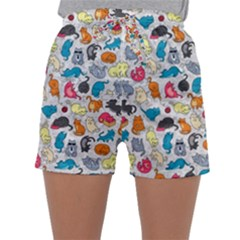 Funny Cute Colorful Cats Pattern Sleepwear Shorts