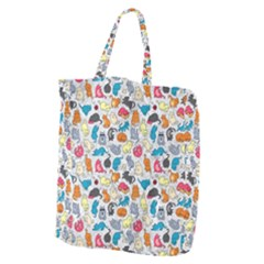 Funny Cute Colorful Cats Pattern Giant Grocery Tote
