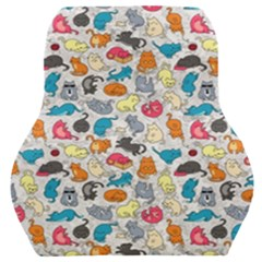 Funny Cute Colorful Cats Pattern Car Seat Back Cushion
