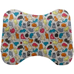 Funny Cute Colorful Cats Pattern Head Support Cushion