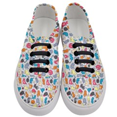 Funny Cute Colorful Cats Pattern Women s Classic Low Top Sneakers