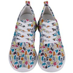 Funny Cute Colorful Cats Pattern Men s Lightweight Sports Shoes
