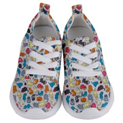 Funny Cute Colorful Cats Pattern Kids  Lightweight Sports Shoes