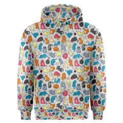 Funny Cute Colorful Cats Pattern Men s Overhead Hoodie