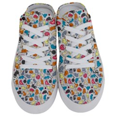 Funny Cute Colorful Cats Pattern Half Slippers
