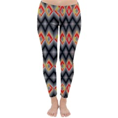 Red And Black Zig Zags  Classic Winter Leggings