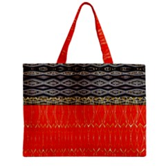Creative Red And Black Geometric Design  Zipper Mini Tote Bag by flipstylezdes