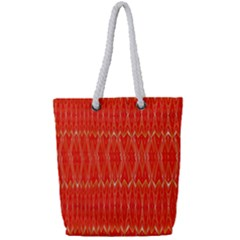 Stretched Red And Black Design By Kiekiestrickland  Full Print Rope Handle Tote (small)