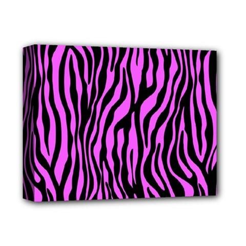 Zebra Stripes Pattern Trend Colors Black Pink Deluxe Canvas 14  X 11  by EDDArt