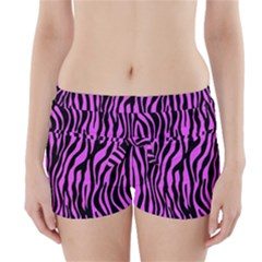 Zebra Stripes Pattern Trend Colors Black Pink Boyleg Bikini Wrap Bottoms