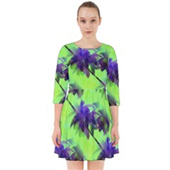 Palm Trees Lime In The Coconut Smock Dress