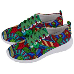 Pop Art Paisley Flowers Ornaments Multicolored 2 Men s Lightweight Sports Shoes by EDDArt