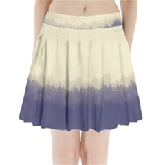 Cloudy Foggy Forest With Pine Trees Pleated Mini Skirt