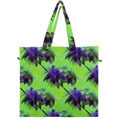 Palm Trees Lime In The Coconut Canvas Travel Bag by CrypticFragmentsColors