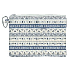 Native American Ornaments Watercolor Pattern Blue Canvas Cosmetic Bag (xl) by EDDArt