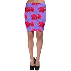 Palm Trees Neon Nights Bodycon Skirt