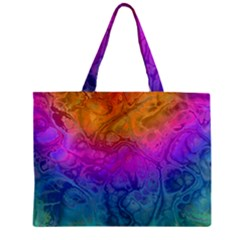 Fractal Batik Art Hippie Rainboe Colors 1 Zipper Mini Tote Bag by EDDArt