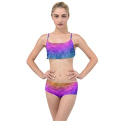 Fractal Batik Art Hippie Rainboe Colors 1 Layered Top Bikini Set by EDDArt