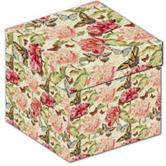 Watercolor Vintage Flowers Butterflies Lace 1 Storage Stool 12