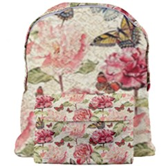 Watercolor Vintage Flowers Butterflies Lace 1 Giant Full Print Backpack by EDDArt
