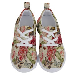 Watercolor Vintage Flowers Butterflies Lace 1 Running Shoes by EDDArt