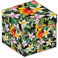Tropical Flowers Butterflies 1 Storage Stool 12   by EDDArt