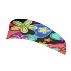 Colorful Retro Flowers Fractalius Pattern 1 Stretchable Headband