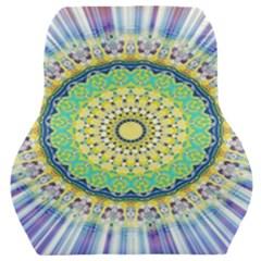 Power Mandala Sun Blue Green Yellow Lilac Car Seat Back Cushion