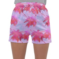 Palm Trees Paradise Pink Pastel Sleepwear Shorts