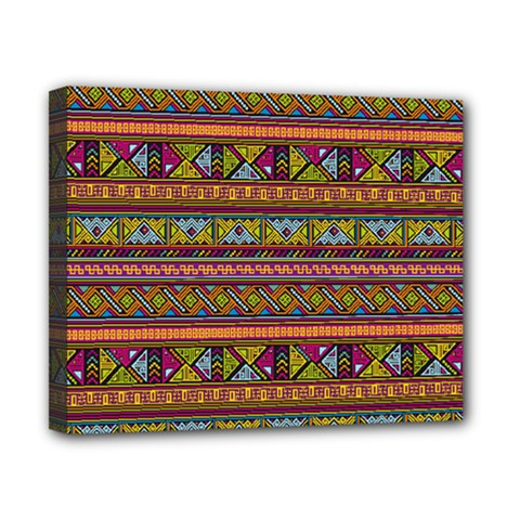 Traditional Africa Border Wallpaper Pattern Colored 2 Canvas 10  X 8