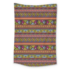 Traditional Africa Border Wallpaper Pattern Colored 2 Large Tapestry by EDDArt