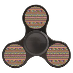 Traditional Africa Border Wallpaper Pattern Colored 2 Finger Spinner by EDDArt