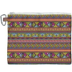 Traditional Africa Border Wallpaper Pattern Colored 2 Canvas Cosmetic Bag (xxxl) by EDDArt
