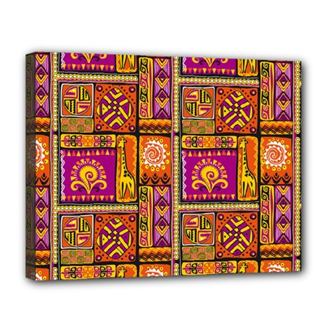 Traditional Africa Border Wallpaper Pattern Colored 3 Canvas 14  X 11