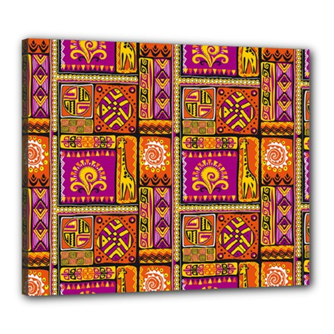 Traditional Africa Border Wallpaper Pattern Colored 3 Canvas 24  X 20