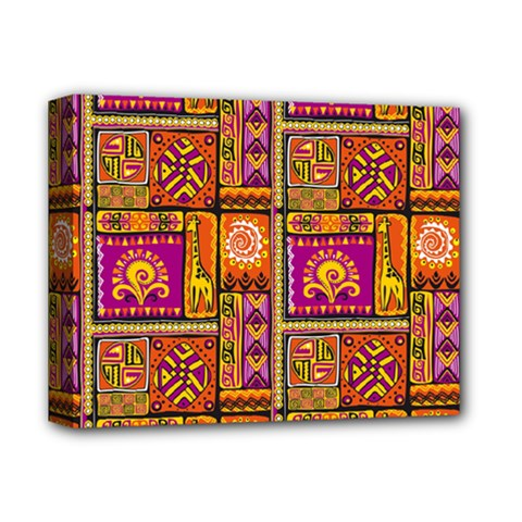 Traditional Africa Border Wallpaper Pattern Colored 3 Deluxe Canvas 14  X 11