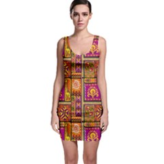 Traditional Africa Border Wallpaper Pattern Colored 3 Bodycon Dress
