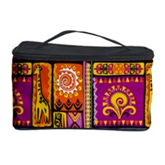 Traditional Africa Border Wallpaper Pattern Colored 3 Cosmetic Storage Case