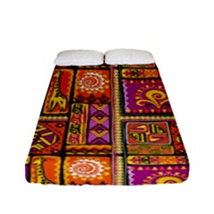 Traditional Africa Border Wallpaper Pattern Colored 3 Fitted Sheet (full/ Double Size)