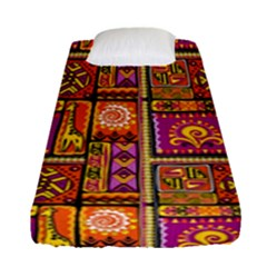 Traditional Africa Border Wallpaper Pattern Colored 3 Fitted Sheet (single Size)