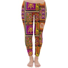 Traditional Africa Border Wallpaper Pattern Colored 3 Classic Winter Leggings