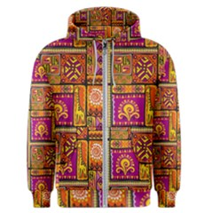 Traditional Africa Border Wallpaper Pattern Colored 3 Men s Zipper Hoodie