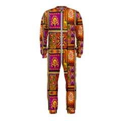 Traditional Africa Border Wallpaper Pattern Colored 3 Onepiece Jumpsuit (kids)