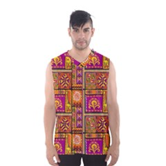 Traditional Africa Border Wallpaper Pattern Colored 3 Men s Basketball Tank Top