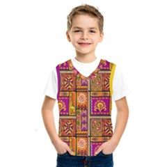 Traditional Africa Border Wallpaper Pattern Colored 3 Kids  Sportswear