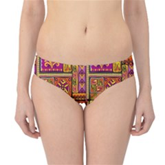 Traditional Africa Border Wallpaper Pattern Colored 3 Hipster Bikini Bottoms