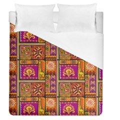 Traditional Africa Border Wallpaper Pattern Colored 3 Duvet Cover (queen Size)